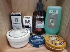 NEW Mens Grooming Products Beard Oil, Moustache Wax, Shaving Cream Free P&P