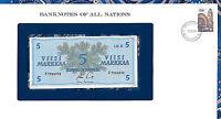 Banknotes of All Nations Finland 5 Markkaa 1963 UNC P-106Aa.11 Litt. B