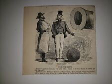 Civil War Great Britian England United States Cannon Ball 1864 Cartoon Sketch