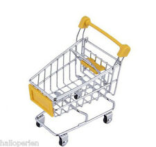 Funny Baby Toy Trolley Mini Metal Shopping Cart Mobile Holder Storage Basket