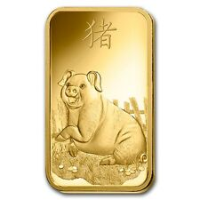 2019 ~ 1~OUNCE ~9999 GOLD~ YEAR of the PIG ~ PAMP SUISSE ~ SEALED BAR ~$1,448.88