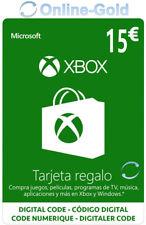 €15 Xbox Live Tarjeta Regalo 15 Euro - Microsoft Xbox 360 One código - ES & EU