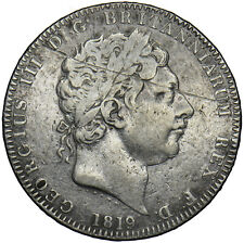 More details for 1819 lix crown - george iii british silver coin