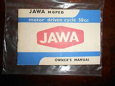 Vintage JAWA OEM Moped 50cc 50 CC Owners Manual