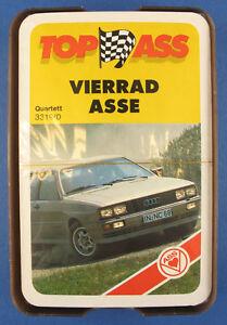 Quartett - VIERRAD ASSE - ASS 3319/0 - NEU in Folie - von 1985 -Auto Kartenspiel