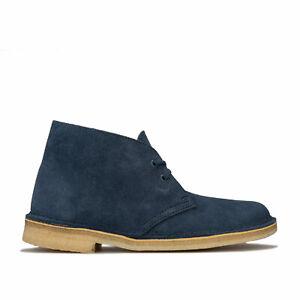Womens Clarks Originals Desert Boots In Deep Blue