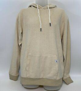 FEAT Socks Blanket Blend Hoodie Jacket in Oatmilk Cream M L XL $118 Unisex NWOT