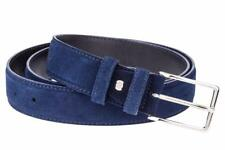 Blue Suede Leather Belt Mens belts 100% Italian leather Nubuck Dress Golf W34""