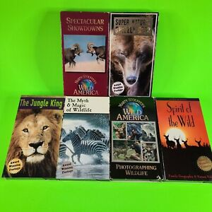 Lot Of 6 Wildlife VHS Tapes Photographing The Wild Super Natural