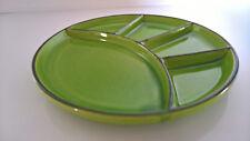 1 Fondueteller grün Keramik Jasba  70er