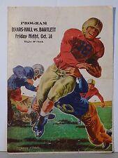 Byars Hall vs Bartlett High School 1947 Football Program Covington Tennessee