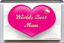 """""""world's best mum"""" aimant de réfrigérateur idéal unique anniversaire ou cadeau de noël"""