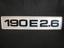 Showroom licence plate Mercedes-Benz 190 E 2.6 (JS)
