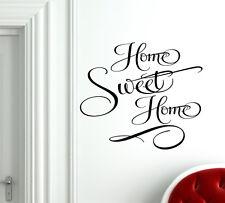 Home Sweet Home Wall Decal Vinyl Sticker Home Decor art mural saying porch font