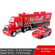 Disney Pixar Car No.123 Mack Racer's Truck & No Stall Toy Model Car 1:55 Kid New