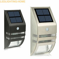 Auto Solar Power LED PIR Motion Sensor Outdoor Path Wall Light Garden Security