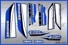 yamaha banshee full graphics kit se 60th ann blue THICK AND HIGH GLOSS