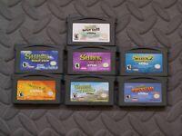 Lot Nintendo Game Boy Advance GBA Games Shrek Hastle, Shrek 2 Beg, Shrek 2 + 2