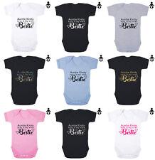 AUNTIE ... IS MY BESTIE, Best Friends personalised Baby grow BABY VEST /Bodysuit