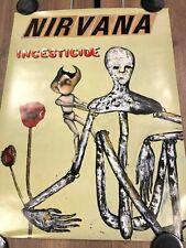 Nirvana 1992 Original 'Incesticide' Very Rare Genuine Geffen Promo Poster