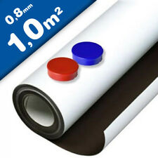 0,8mm x 30cm x 60cm bianco Opaco 6 pezzi Targhe Magnetiche