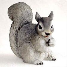 Gray Squirrel pet Hand Painted Figurine Resin Statue Collectible grey Animal New