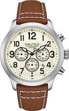 Orologio Nautica NAI14517G in pelle marrone cronografo cassa acciaio moda 2015