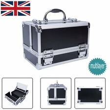 Cosmetic Case Makeup Multilayer Organizer W/ Big Mirror Large Capacity Lockable