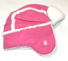 84637975f5235 New Toddler Girls Pink Trapper Hat Fleece Lined Waterproof Ear Flaps Winter