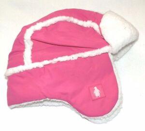 New Toddler Girls Pink Trapper Hat Fleece Lined Waterproof Ear Flaps Winter