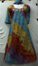 Women Clothing African Dress Kaftan Maxi Boho Blue Purple Yellow Orange One Size
