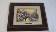"WINTER STREET SCENE Thomas Kinkade Canvas framed overall 11 3/4 x 13 1/4"""