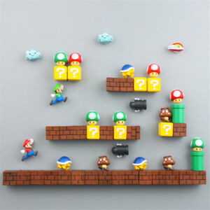 Super Mario Game Refrigerator Magnets 3D PVC Fridge Note Posted Sticker Gift New