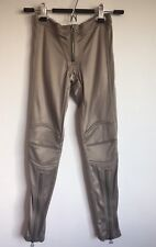 NWT $500 Thomas Wylde Pewter Tan Beige Nylon Spandex Stretch Pants Rocker XS