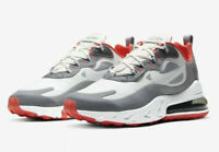 Nike Air Max 270 React Running Red Grey White Shoes (CT1264-100) Men's Sizes