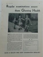 1931 Health x-ray examination boys girls roller skates skating ad