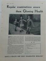 1931 Health x-ray examination boys girls roller skates skating ad