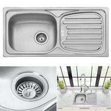 Brand New Stainless Steel Kitchen Sink 1.0 Single Bowl Modern Reversible Drainer