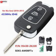 3 Button 433MHz ID46 Filp Remote Key FOB for Kia Soul 2010-2013 P/N: 95430-2K220