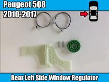 Peugeot 508 Berline Fenêtre Régulateur Winder Kit Réparation Arrière gauche