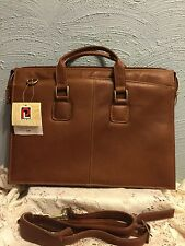 Piel handmade in Columbia Slim  Leather a Briefcase #9223 nwt