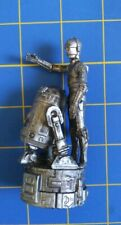 2005 Star Wars Saga Replacement Chess game Piece Silver R2-D2 & C-3Po figurine
