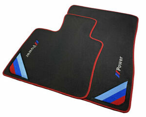 Floor Mats For BMW M6 Series F06 GC M Black Red Rounds With /// Power Emblem