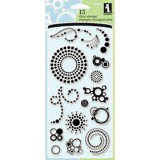 """Inkadinkado Clear Stamps 4""""X8"""" -Circle & Dots"""