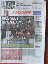 L'Equipe du 29/11/2008 - Nice - Lyon - Rugby : Toulouse - Voile