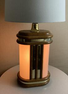 Vintage Mid Century Danish Modern Deco Acrylic Light Up Base Circa 1986 Lamp