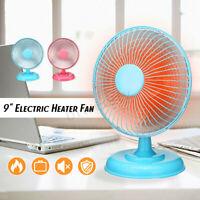 220W Mini Heater Fan 9'' Portable Electric Warmer Fan For Hand&Feet Home   W
