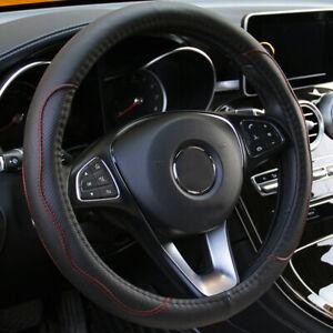 Steering Wheel Cover PU Leather Good Grip Anti-slip Breathable Universal