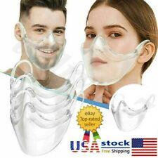 Durable Mask Face Shield Combine Plastic Reusable Clear Transparent Protection #