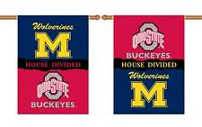 "Michigan Ohio State House Divided Banner Flag 2 Sided 28""x 40"" House Porch"